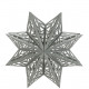 Paper star Scandi, for hanging, D46cm, lit.